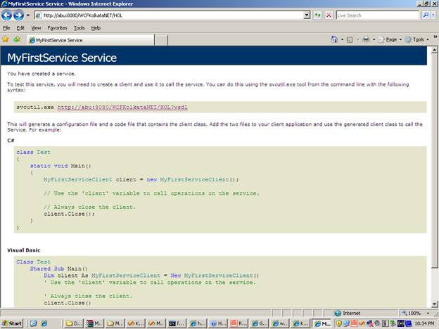 WSDL of WCF Service